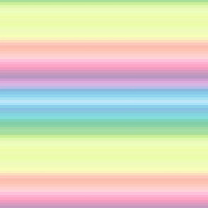 "pastel wild and crazy rainbow .25"" quarter inch stripes horizontal"