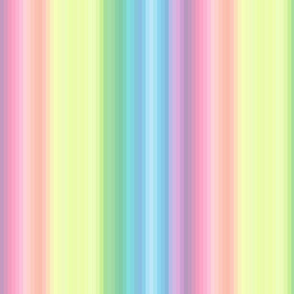 "pastel wild and crazy rainbow .25"" quarter inch stripes vertical"