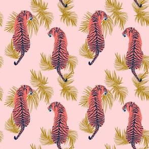 Paisley Tiger - Pink & Gold
