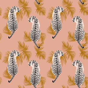 Paisley Tiger - Soft pink & Gold