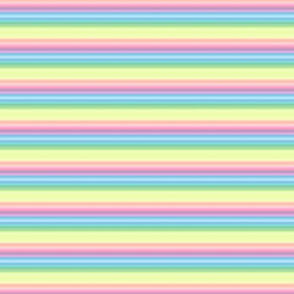 pastel wild and crazy rainbow tiny stripes horizontal