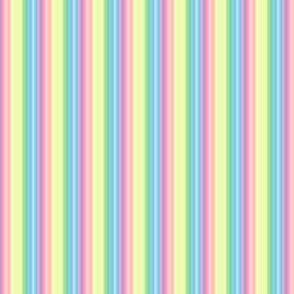 pastel wild and crazy rainbow tiny stripes vertical