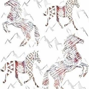 Horses Mountain Fantasy