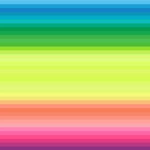 "wild and crazy rainbow .5"" half inch stripes horizontal"