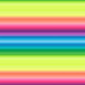 "wild and crazy rainbow .25"" quarter inch stripes horizontal"