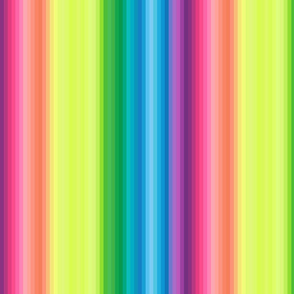 "wild and crazy rainbow .25"" quarter inch stripes vertical"