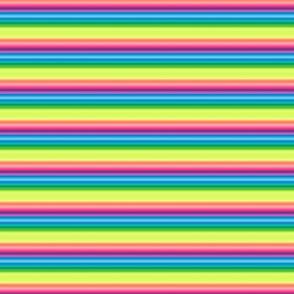 wild and crazy rainbow tiny stripes horizontal