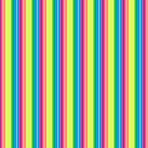 wild and crazy rainbow tiny stripes vertical