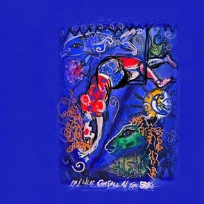 if i were Chagall in the 50's (title & red curls)-ed