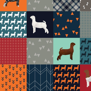 """Cheater Quilt - Goats - """"All Boy"""" - Large"""