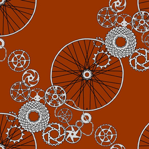Beautiful Bicycle parts - FQ - chestnut brown