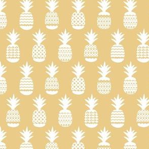 Ananas pineapple boho garden sweet neutral nursery theme white soft honey yellow