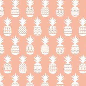 Ananas pineapple boho garden sweet neutral nursery theme white soft peach