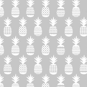 Ananas pineapple boho garden sweet neutral nursery theme white soft gray