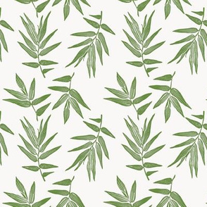 bamboo leaves in green
