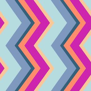 Sultry Stripes: Corfu Chevrons  (Medium scale)