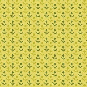Playful Flowers Tonal Green  TerriConradDesigns