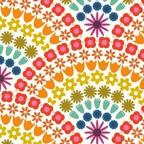 Rainblow Flower Scallops - LG