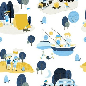Summer Camp Toile