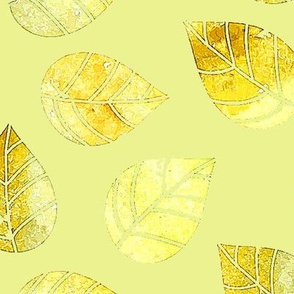 Sunny Watercolor Leaves