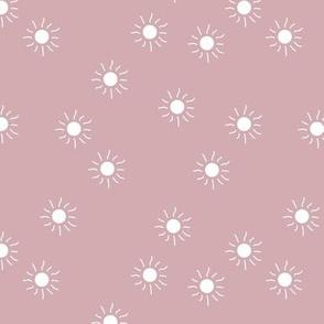 Little sunny day sunshine summer sky minimal abstract boho neutral nursery Scandinavian style mauve white