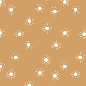 Little sunny day sunshine summer sky minimal abstract boho neutral nursery Scandinavian style golden caramel brown white