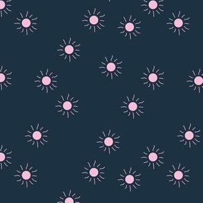 Little sunny day sunshine summer sky minimal abstract boho neutral nursery Scandinavian style navy blue pink