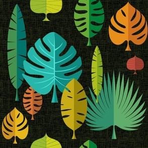 Large Tiki Leaves Dark