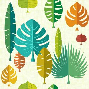 Large Tiki Leaves light