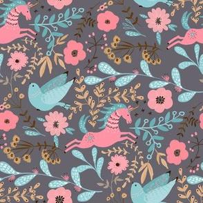 Wonder-Garden grey and pink