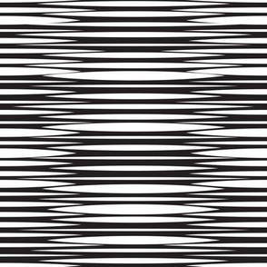 Small scale // Zebra simplified lined horizontal stripes // black and white