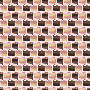 Cake Slice Pattern - Chocolate and Pink