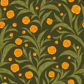 Pirouette - tangerine blooms