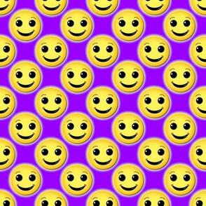 smiley on purple