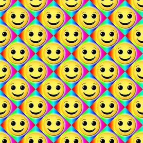 smiley on rainbow