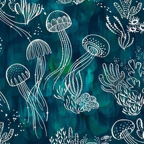 Luminous Sea in Teal - © Lucinda Wei