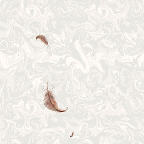 Softly falling feathers