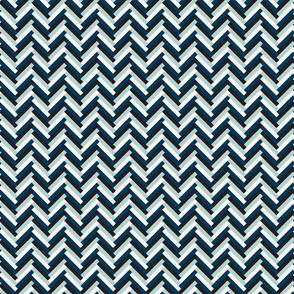herringbone (small; navy, pool)