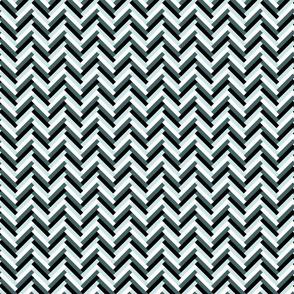herringbone (small; pine, mint)