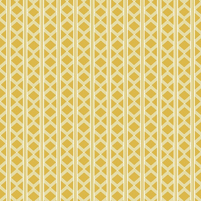 Swan Garden geometric lines in yellow