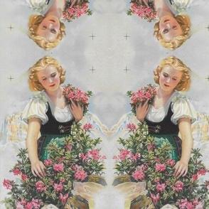 flower girl goes retro