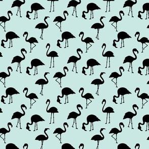 Minimalist style abstract flamingo boho birds neutral nursery trend baby blue black