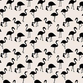 Minimalist style abstract flamingo boho birds neutral nursery trend monochrome off white beige black