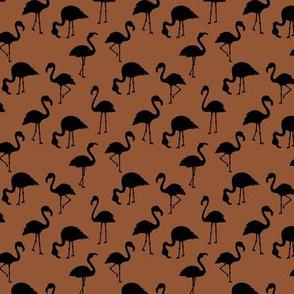 Minimalist style abstract flamingo boho birds neutral nursery trend rust copper brown