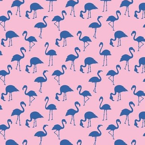 Minimalist style abstract flamingo boho birds neutral nursery trend classic blue pink