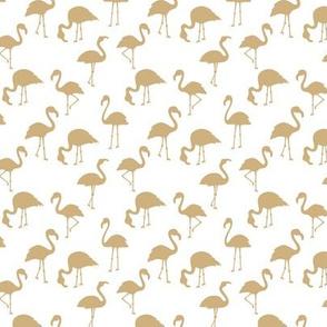 Minimalist style abstract flamingo boho birds neutral nursery trend soft mustard yellow