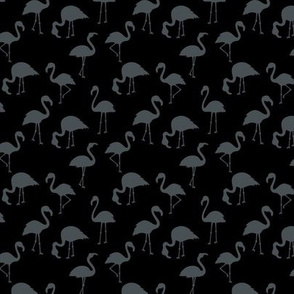 Minimalist style abstract flamingo boho birds neutral nursery trend black charcoal gray