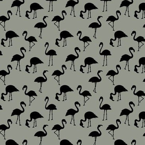 Minimalist style abstract flamingo boho birds neutral nursery trend black moody gray green