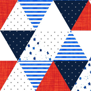 4th of July Triangle Wholecloth