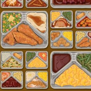 TV Dinner Pattern_Brown
